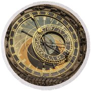 Prague Astronomical Clock Round Beach Towel