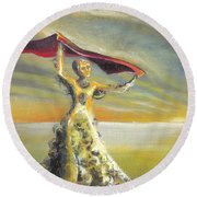 'praise You In This Storm' Round Beach Towel