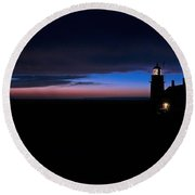 Pre Dawn Light Panorama At Quoddy Round Beach Towel