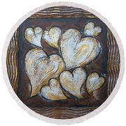 Precious Hearts 301110 Round Beach Towel by Selena Boron