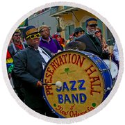 New Orleans Jazz Band  Round Beach Towel