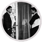 President John Kennedy And Robert Kennedy Round Beach Towel