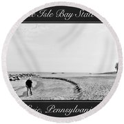 Presque Isle State Park Erie Pennsylvania Round Beach Towel