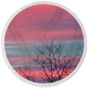 Pretty In Pink Sunrise Round Beach Towel