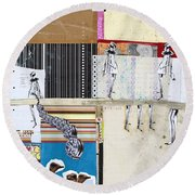 Pretty Little Things Round Beach Towel by Michel Keck