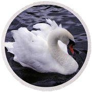 Pretty Swan Round Beach Towel