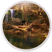 Price Falls 1 Of 5 Round Beach Towel by Jason Politte