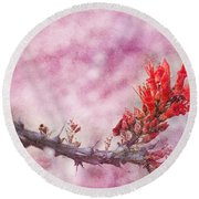 Prickly Beauty Round Beach Towel by Erika Weber