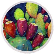 Prickly Pear Round Beach Towel