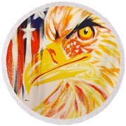 Primary Eagle Round Beach Towel