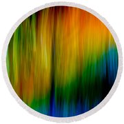 Primary Rainbow Round Beach Towel