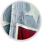 Round Beach Towel featuring the photograph Primitive Flag by Valerie Reeves