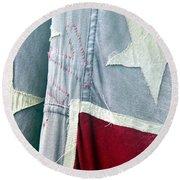 Primitive Flag Round Beach Towel by Valerie Reeves