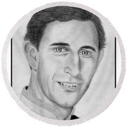 Prince Charles In 1981 Round Beach Towel