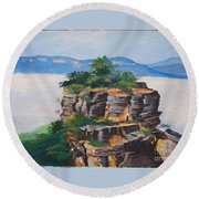 Prince Henry Cliff Australia Round Beach Towel