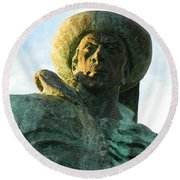 Round Beach Towel featuring the photograph Prince Henry The Navigator by Kathy Barney