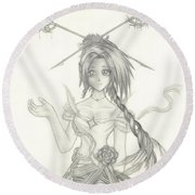 Princess Altiana Round Beach Towel