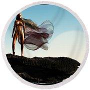 Princess Of Mars... Round Beach Towel by Tim Fillingim