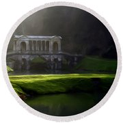 Prior Park Bath Round Beach Towel by Ron Harpham