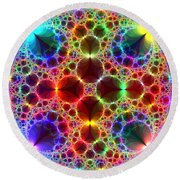 Prism Bubbles Round Beach Towel