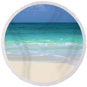 Pristine Beach Cancun Round Beach Towel