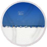 Pristine Clearwater Round Beach Towel by David Nicholls
