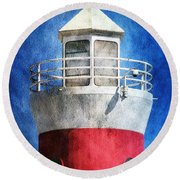 Private Lighthouse Round Beach Towel