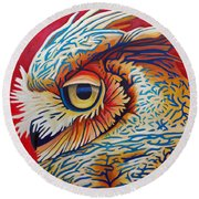 Private Passion Round Beach Towel