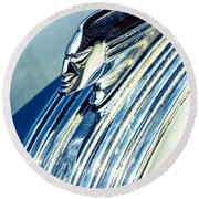 Profile In Chrome Round Beach Towel