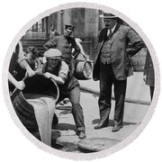 Prohibition In The Usa Round Beach Towel