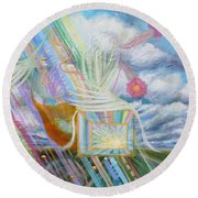 Prophetic Ms 39 Praise And The Festival Of Booths/feast Of Tabernacles Round Beach Towel