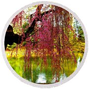 Prospect Park In Brooklyn Round Beach Towel