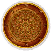 Round Beach Towel featuring the digital art Prosperity Mandala - Mandala Art  By Giada Rossi by Giada Rossi