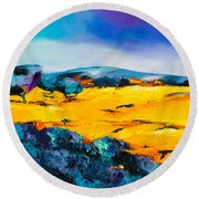 Provence Colors Round Beach Towel
