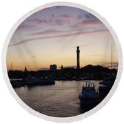 Provincetown Sunset Round Beach Towel by Robert Nickologianis