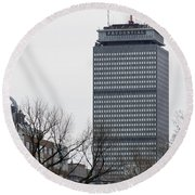 Prudential Tower Round Beach Towel