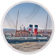 Ps Waverley Approaching Penarth Round Beach Towel by Steve Purnell