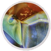 Psychadelic Butterfly Round Beach Towel