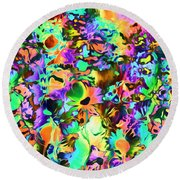 Psychadelic Dreams Round Beach Towel