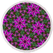 Round Beach Towel featuring the digital art Psychedelic Pink by Elizabeth McTaggart