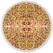 Psychedelic Story Round Beach Towel