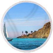 Pt Loma - San Diego Bay Round Beach Towel