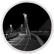Ptuj Bridge Bw Round Beach Towel