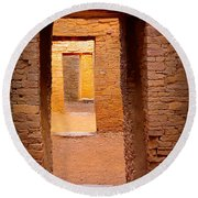 Pueblo Doorways Round Beach Towel