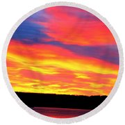 Puget Sound Colors Round Beach Towel
