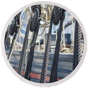 Pulley And Stay Round Beach Towel
