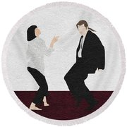Pulp Fiction 2 Round Beach Towel by Ayse Deniz