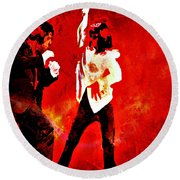 Pulp Fiction Dance 2 Round Beach Towel by Brian Reaves