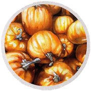 Pumpkin Palooza Round Beach Towel