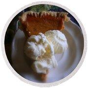Pumpkin Pie A' La Mode Round Beach Towel by Kay Novy